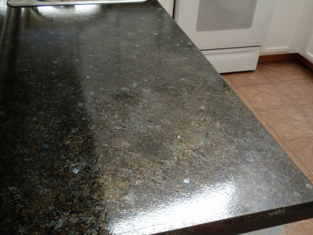 Refinish Countertop Paint Lowes : Countertop Resurfacing - Painted Granite - Before & After
